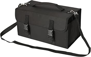NIUTOP 120 Slots Marker Pen Case Markers Carrying Bag Holder for Primascolor Marker and Copic Sketch Marker, Permanent Paint Marker, Dry Erase Marker, Repair Marker Pen, Color Highlighter (Black)