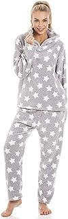 comprar comparacion Camille Conjuntos de Pijama de Felpa Suave de Cuerpo Entero de Manga Larga para Mujer