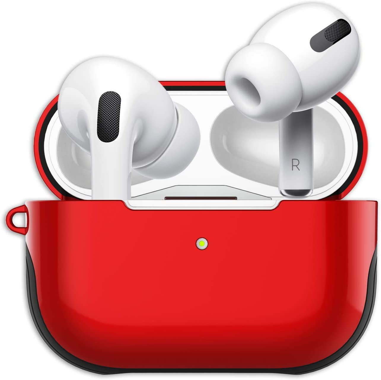 Amazon Com Airpods Pro Case Cover With Lanyard Luxurious Airpod Pro Cover Hard Shell Plastic Silicone 2 In 1 Airpods Pro Skin Airpos Protective Case For Airpod Pro Charging Case Red Home Audio