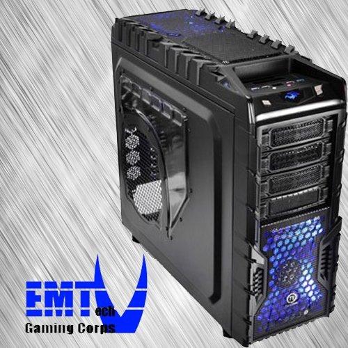 EMTech Gaming Corps ONE FX Extreme V3 | ASUS SABERTOOTH 990FX R2.0 Gaming Mainboard | AMD FX-8370 | XFX Radeon R9 390X | 32GB DDR3 1866 | 2TB HDD + 256 GB SSD | CPU WasserKühlung | 750W 80+ Gold Thermaltake PSU (ohne Betriebssystem)
