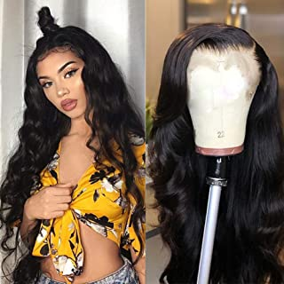 TUNEFUL 18 Inch Lace Front Human Hair Wigs for Black Women 13x4 Lace Front Wigs with Baby Hair 100% Unprocessed Virgin Human Hair Wigs 150% Density Pre Plucked Lace Wigs