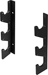 Yes4All Horizontal Wall Mounted Olympic Barbell Rack, 3 Bar or 6 Bar Options (Pair)