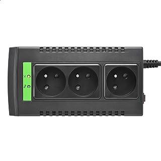 منظم الجهد الكهربائي الاوتوماتيكي بثلاث مخارج لاين-ار من ايه بي سي LS1000-FR، 1000 فولت امبير، 230 فولت - اسود