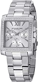 Stuhrling Original Women's 540.01 Victoria Quartz Multifunction Swarovski Stainless Steel Watch