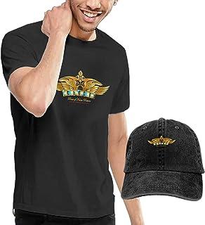 Camiseta de manga corta para hombre Kansas Band con gorra de béisbol