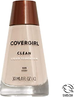 COVERGIRL Clean Makeup Foundation Normal Skin Ivory 105, 1 oz (packaging may vary)