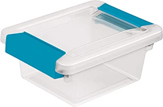 product image for STERILITE Mini Clip Box Clear Base & Lid Aquarium Blue Latches