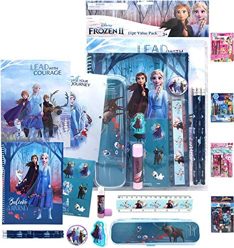 Disney Frozen 2 All You Need for School Stationery Gifts Set Pencils Eraser Notebook Case Ruler product image