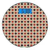 Escala digital de peso corporal de precisión Ronda Geométrico Báscula de...