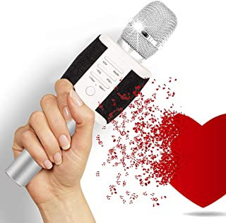 TOSING Wireless Karaoke Microphone with Built-in Speakers, Louder Portable Microphone for Home KTV Party, Bluetooth Handheld Karaoke Singing Machine for Smartphone, Birthday Gift for Kids Teen Adults