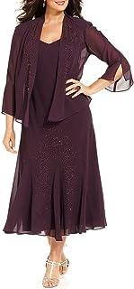 Women's Beaded Chiffon Jacket Dress