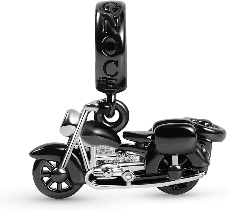 期間限定 GNOCE Motorcycle Pendant 期間限定特価品 Charm 925 Black Silver Sidecar Sterling