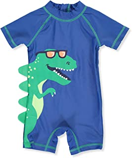 Carter's 1 Piece Baby Boy's Dinosaur Rashguard Swim Bathing Suit 50+ UPF