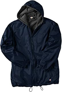 Big Men's Hooded Nylon Zip Jacket - Fleece Lined