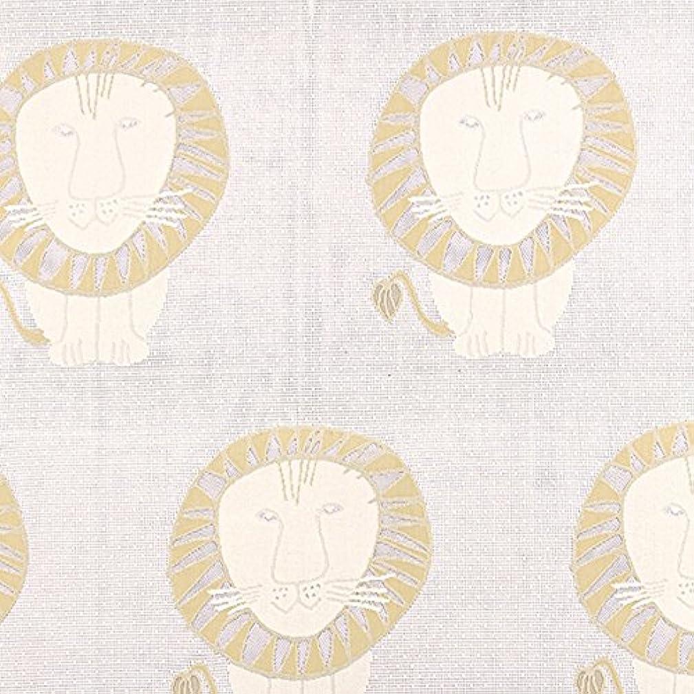 揮発性水を飲むホイットニー【2枚組】 洗えるジャガードレースカーテン リサラーソン ライオン Lisa larson Lion 巾100cm×丈156~180cm 2枚セット(173cm)