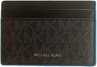 Michael Kors Gifting Card Case with ID - Black/Pop Blue