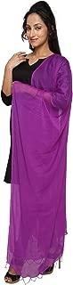 Dupatta Bazaar Indian Casual Purple Beaded Chiffon Dupatta, Scarf Shawl/Chunni
