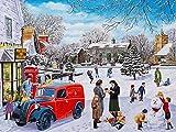 Pintura de diamante coche de Navidad 5D DIY punto de cruz bordado de diamantes Kit de artesanía de paisaje decoración del hogar regalo A4 40x50cm