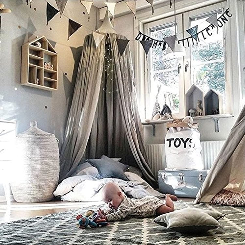 moda FUGL Kids Kids ropa ropa ropa de cama rojoonda dosel cama dosel cama mosquitera cortina gris  ahorra hasta un 50%