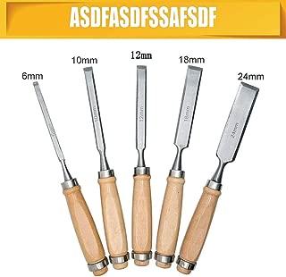 Cinceles de tallado a mano SENRISE juego de herramientas de madera para tallar, cincel de acero de alta velocidad y casquillos de latón (madera)