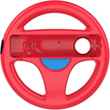 Racing wheel for Wii Mario Kart Racing Steering Wheel for Wii Remote Controller 1 pack ( Red color )