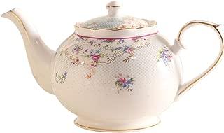 Advanced Bone China Teapot 1000ml High grade Ceramic Coffee Pot European Elegant Fashion Tea Kettle Porcelain Drinkware,see chart