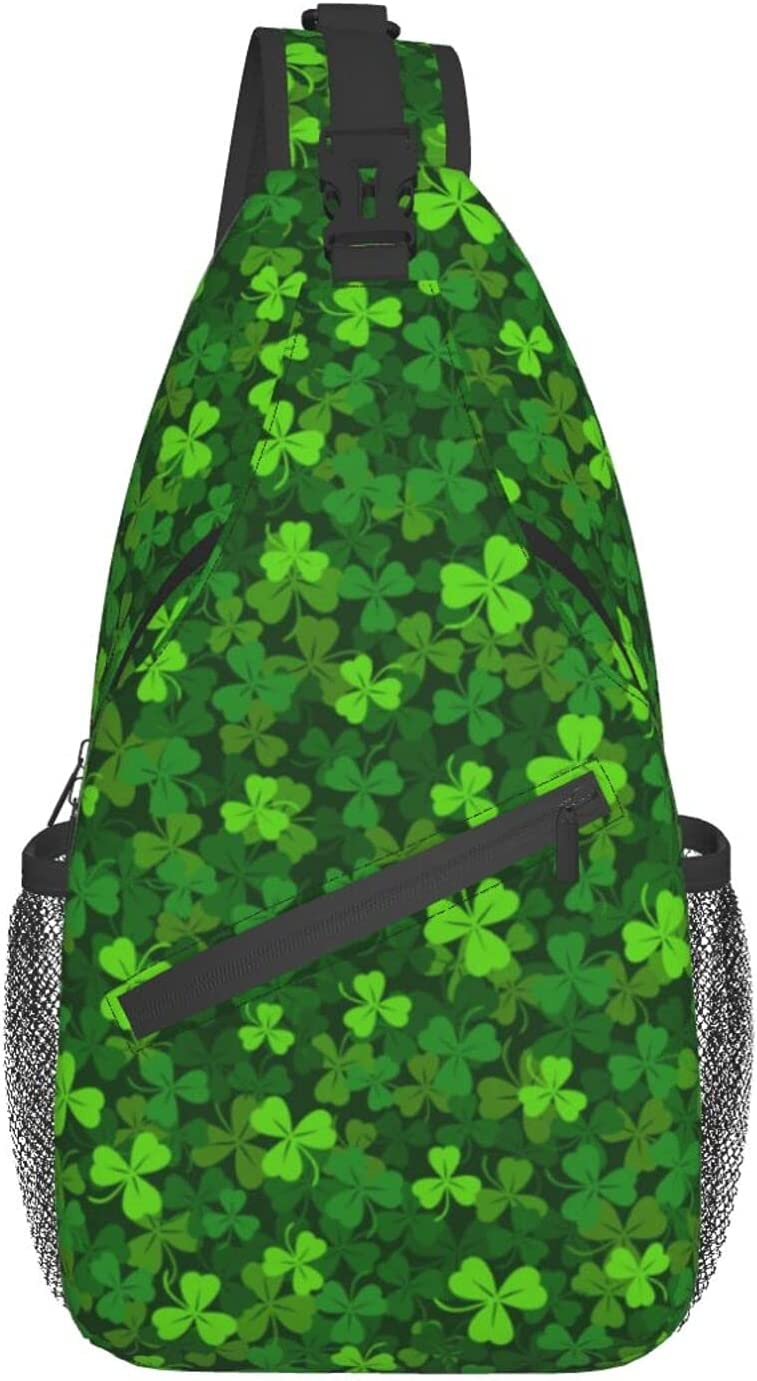 Green Fees free Clover Fixed price for sale Cross Chest Bag Diagonally T Sling Backpack Fashion