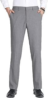 INFLATION Mens Dress Pants Wrinkle-Free Flat Front Slim Fit Stretch Suit Pants for Men