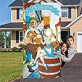 Apoyos De la Foto De Las Decoraciones del Oktoberfest,Accesorios de los Juegos del Oktoberfest,Kit de decoración Oktoberfest,Festival de la Cerveza Bávara,Accesorios de Fondo de Banner (A)