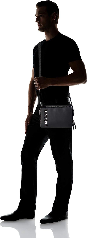 Taille Unique Reporter Bag Homme Lacoste NH3329 Noir Blanc