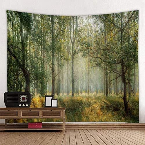 QZXCD Wandtapijt, Primitive Forest Treetop, bedrukt, groot wandtapijt, hippie, wandtapijt, mandala, wanddecoratie 200x150cm AH