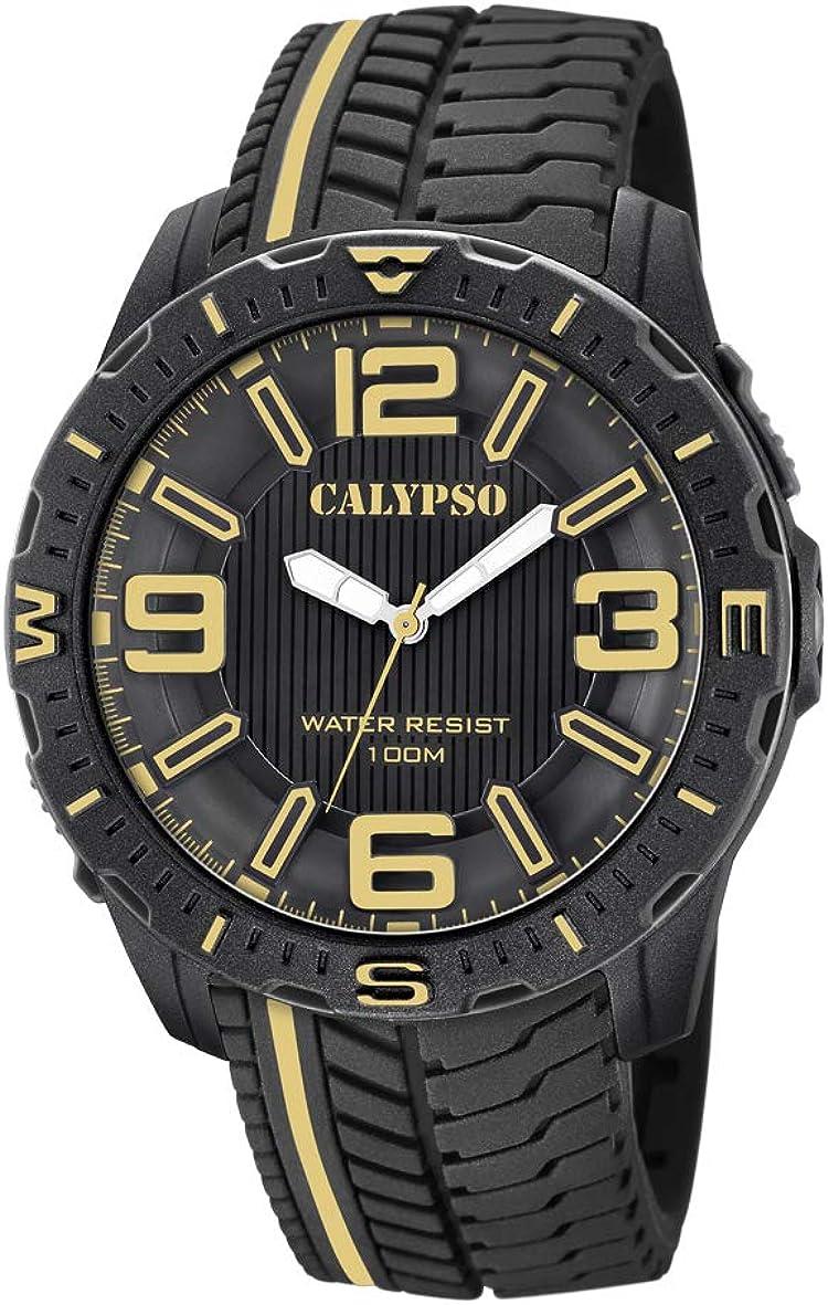 Calypso Watches Reloj Analógico para Hombre de Cuarzo con Correa en Plástico K5762/6