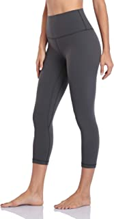 Hawthorn Athletic Women's Essential High Waisted Yoga Capris with Pockets, Workout Compression 3/4 Cropped Leggings 21''