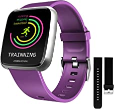 ZKCREATION Smart Watch Heart Rate Monitoring Fitness Tracker with Sleep Monitoring Blood Pressure Stopwatch Pedometer Sport Watch for Men & Women Compatible with Android and iPhone