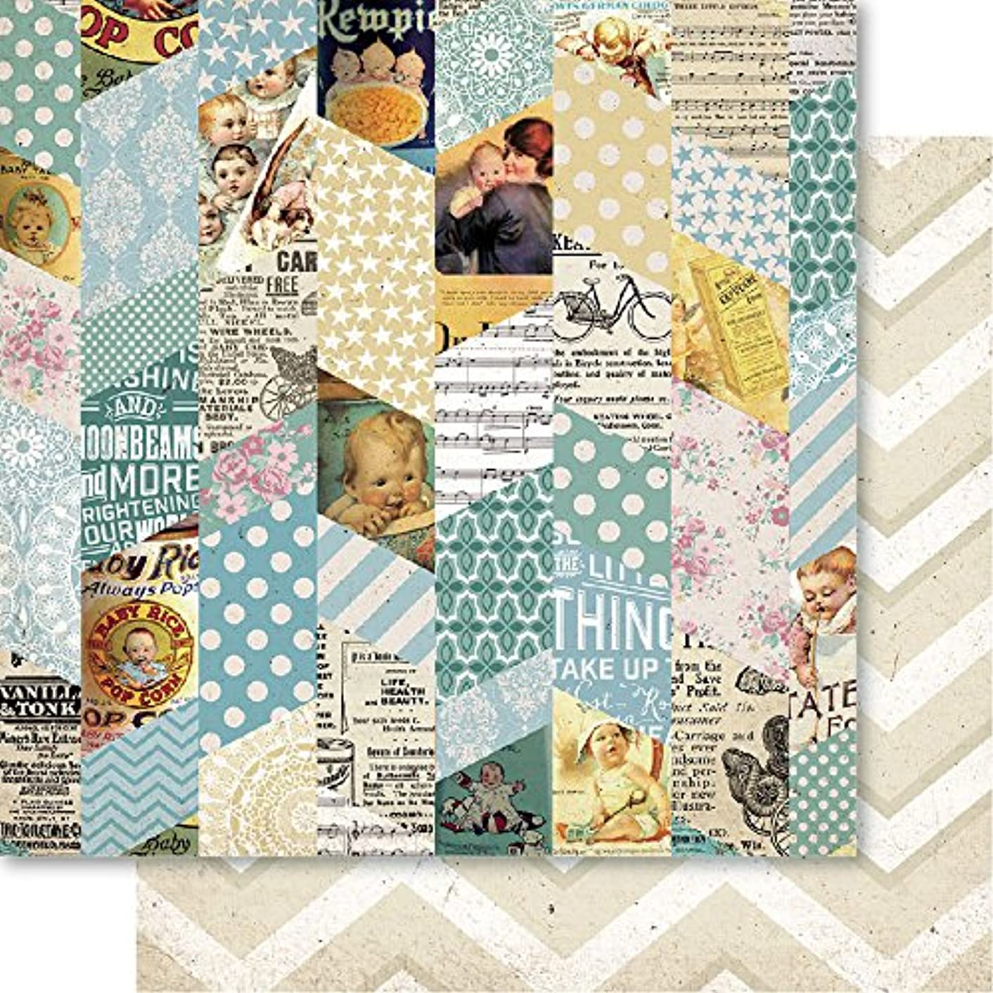 Bella! Baby Boy Double-Sided Cardstock 12