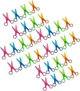 Assorted Color Plastic Preschool Training Scissors Art DIY Craft Paper Cutting Stationery for Kids (36Pcs)
