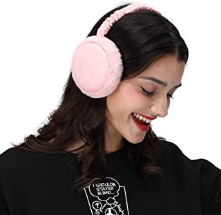 LETHMIK Winter Ear Muffs Outdoor,Mens&Womens Faux Fur Foldable Earmuffs Ear Warmer Cold Weather