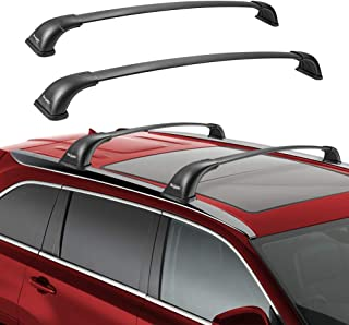 BougeRV Car Roof Rack Cross Bars for 2014-2019 Toyota Highlander with Side Rails, Aluminum Cross Bar Replacement for Rooftop Cargo Carrier Bag Luggage Kayak Canoe Bike Snowboard Skiboard