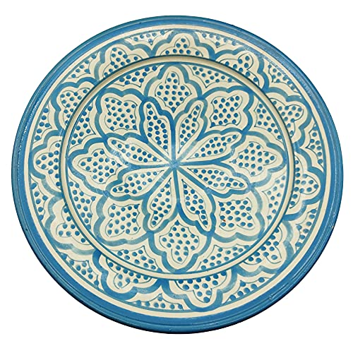 Plato de cerámica terracota pared capacidad étnico marroquí Tunisino 2204211007
