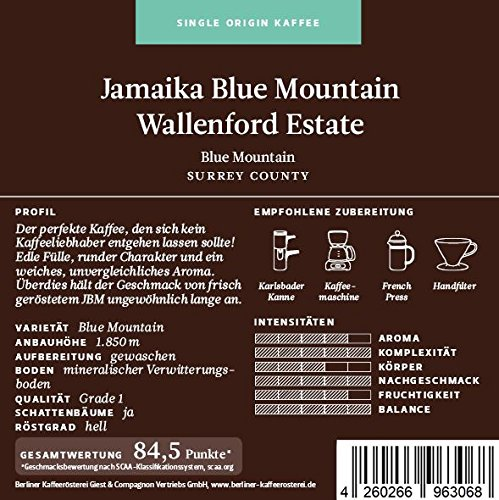 BKR | Kaffee | Jamaika | Blue Mountain Wallenford Estate | Arabica | Single Origin 500g Bohne