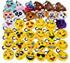 OHill 36 Pack Emoji Plush Pillows Mini Keychain Decorations for Birthday Party, Home Decoration, Wall Decor and Party Favor #2