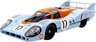 CMR – Porsche 917 Long Tail Le Mans 1971 Gulf, cmr044 Miniature Vehicle, Scale 1/18 Blue/Orange