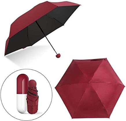 Clomana® Ultra Lightweight Mini Foldable Capsule Umbrella