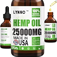 LYNNC Hemp Oil for Anxiety Relief - 25000 MG - Premium Seed Grade - Natural Hemp Oil for Better Sleep, Mood & Stress - Improve Health - Vitamins & Fatty Acids