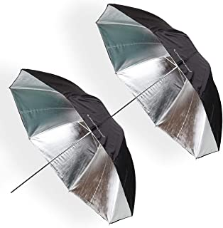UNPLUGGED STUDIO (2pack) 43inch Silver Umbrella (Fiberglass Rib) UN-051
