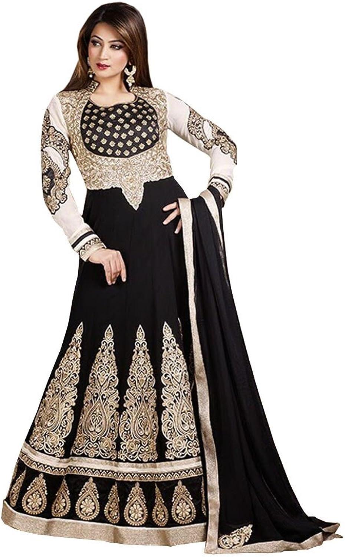 DivyaEmporio Women's Anarkali Unstitched Dress Material