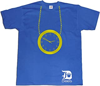 Dibbs Clothing Men's Flavour Flav Public Enemy Clock T-Shirt XX-Large Blue