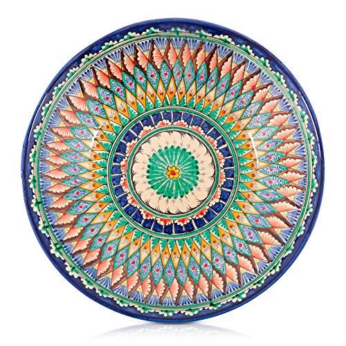 Lagan Rishtan Orientalischer Keramik Teller Handarbeit Ø 33 cm (Bunt)