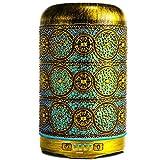 GXZOCK 260ml Difusor de Aromas, un Toque marroquí Difusor Aromaterapia con Luz Nocturna de 7 Colores,Metal Humidificador Aceites Esenciales Ultrasónico, Humidificador Bebés con Lámpara Fragante