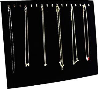 Sunnyglade 17 Hook Velvet Necklace Bracelet Display Stand/Necklace Jewelry Tray/Jewellery Holder Display Organizer (Black)